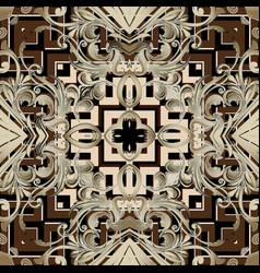 baroque seamless pattern greek key vector image