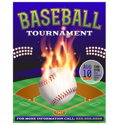 Baseball Tournament Flyer 3 vector image