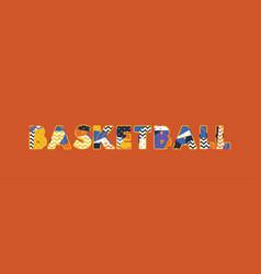Basketball concept word art vector