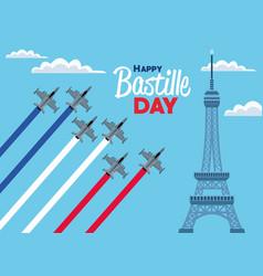 Bastille day poster vector