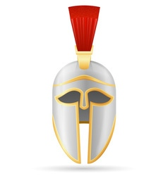 battle helmet 04 vector image