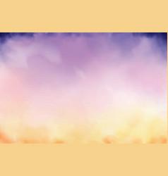 Beautiful twilight sky watercolor background vector