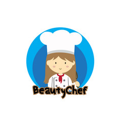 beauty chef vector image