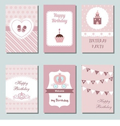 Birthday cards vector image