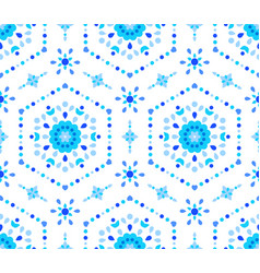 Blue white floral pattern cornflower vector