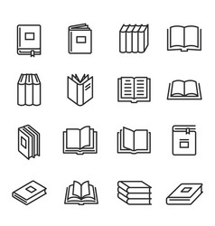 books paper printed literature for reading vector image