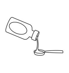 bottle syrup iconoutline icon vector image