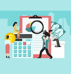 Business finance audit vector
