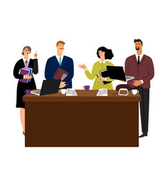 business meeting man and woman negotiations vector image