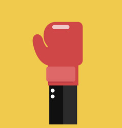 businessman hand with boxing glove vector image