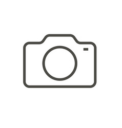 camera icon line photo symbol vector image