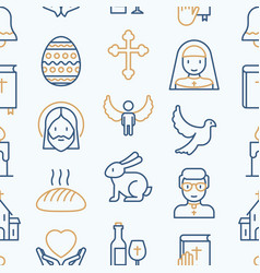 Christianity seamless pattern vector