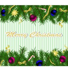 christmas background with fir tree vector image