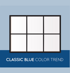 classic blue trendy color horizontal collage vector image