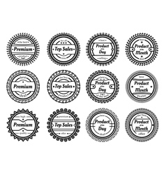 collection of authentic labels vector image vector image