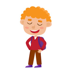 color of pretty curly boy vector image