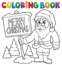 Coloring book santa claus thematics 3 vector