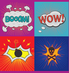 comic effects vector image