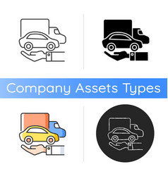 Company owned vehicles icon vector