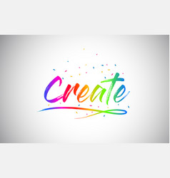 Create creative vetor word text with handwritten vector