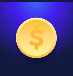 dollar money coin icon flat dollar money coin vector image