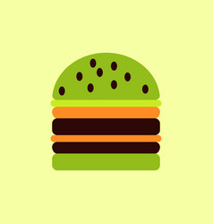 Double cheeseburger hamburger icon burger vector