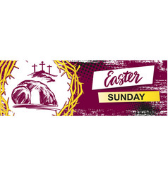 Easter jesus christ rose from the dead sunday vector