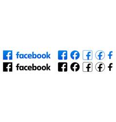 facebook logo set vector image