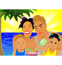 family-pw vector image