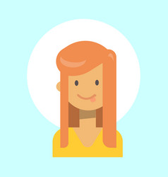 female showing tongue emotion profile icon woman vector image