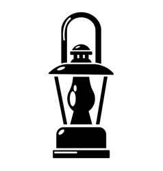 gas lamp icon simple style vector image