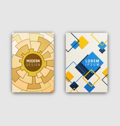geometric pattern cover on vector image