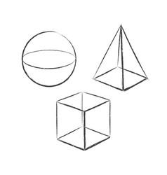 geometric shapes set 4 vector image
