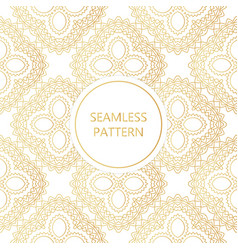 golden seamless pattern on white background vector image