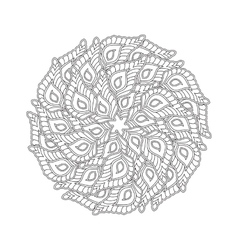 Graphic Mandala with many decorative petals vector image
