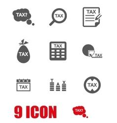 Grey tax icon set vector