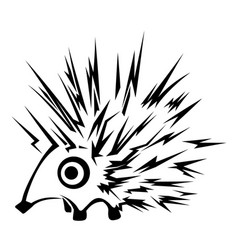 Hedgehog stencil vector