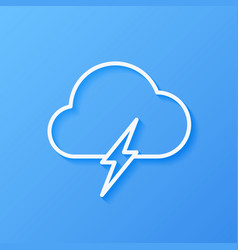 Icon weather cloud with lightning vector
