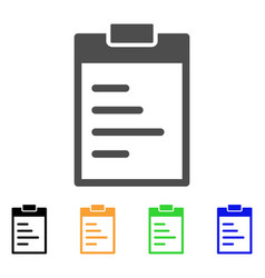 inventory pad flat icon vector image