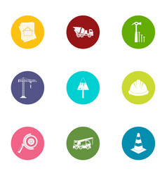 Joiner icons set flat style vector