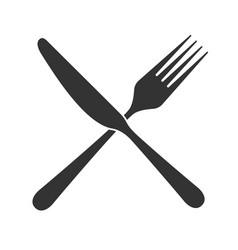 Knife fork vector