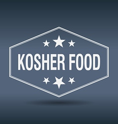 Kosher food hexagonal white vintage retro style vector
