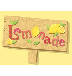 Lemonade Sign Board vector