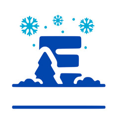 Letter e and winter composition monogram logo vector