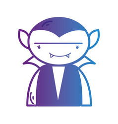 line boy vampire with teeth and cap vector image