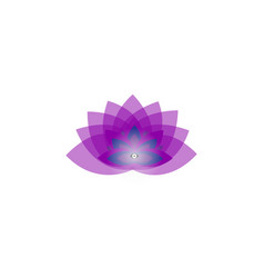 Lotus blue flower with 9 petals vector