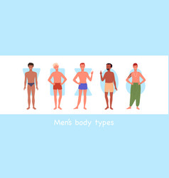 Male body different type diversity group vector