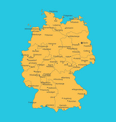 map of germany on blue background vector image