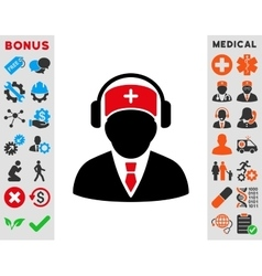 Medical call center icon vector