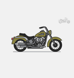 Military vintage motorcycle vector